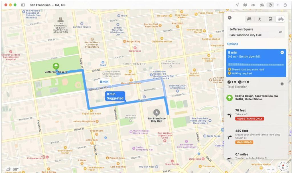 macOS Big Sur Maps